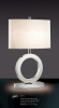Decorative Unique white Fabric Shade Table Lamp chrome suitable for home and commercial projects lights fixtures