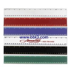 30cm promotional plastic ruler with big logo position