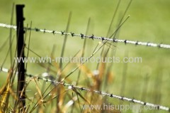 ranch barbed wire fence