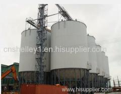 grain storage steel silo with hopper bottom for sales