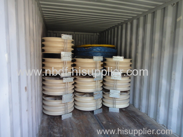 Conductor Stringing Blocks are exported for two conductors 220KV transmission line