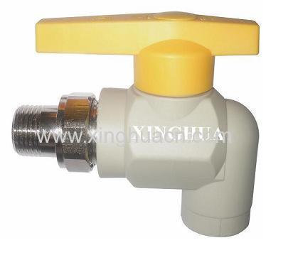 PPR male elbow radiator valves