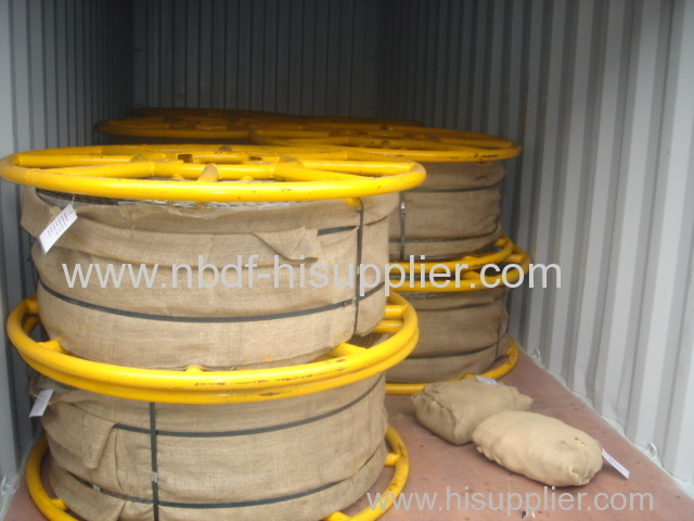 Anti twisting braided steel wire rope are exported for 500KV transmission line stringing operation