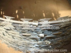 galvanized razor wire fence