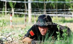 barbed wire military fence