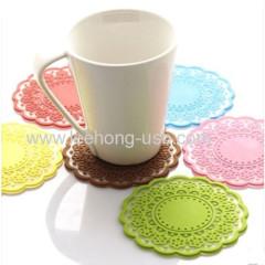 silicone durable non slip silicone cup coaster