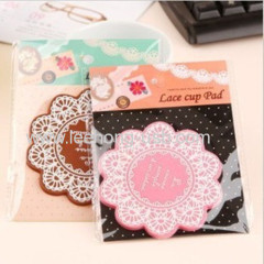 silicone anti slip cup coaster with flower