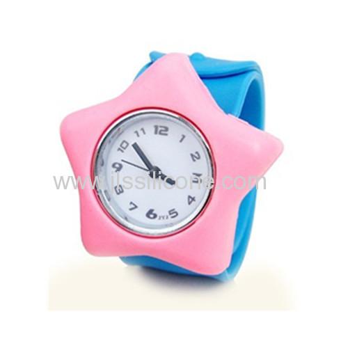 Customized Star-Shaped Silicone slap watch