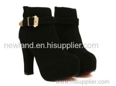 2013 suede super high heel lady martin ankle boots