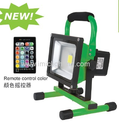 Portable 20w rechargeable emergency led floodlight for Luminaire exterieur rechargeable