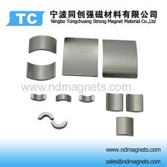 Tile shaped permanent magnets
