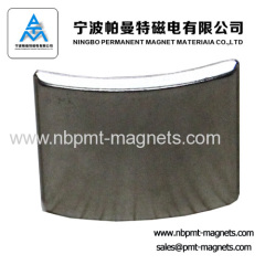 zinc customized arc NdFeB magnet for motor