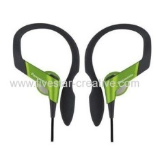 Panasonic RP-HS33 Lightweight Shockwave Green Sports Earhook Headphones