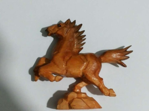 Running Horse Shape Wood Carvings
