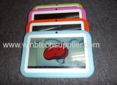 7 inch educational tablet PC Wifi Tablet for Kids shockproof pad, Android 4.1 RK2926 1.2GHz/ 512M RAM KIDs tablet pc
