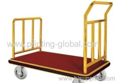 Heat transfer film for hand luggage cart