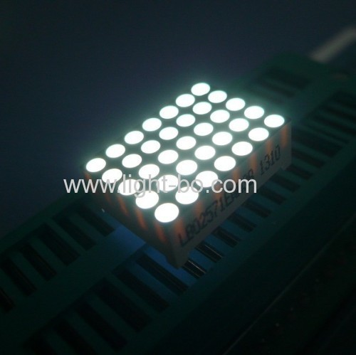Ultra Bright White 0.7 inch 5 x 7 dot matrix led display for message boards /moving signs