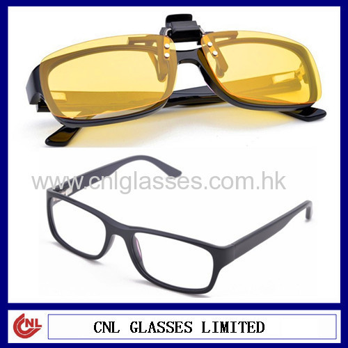 eyeglass frames with clip on sunglass