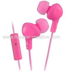 JVC HA FR6 Gummy Plus In-Ear Headphones with Mic for iPhone5C 5S Pink