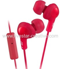 JVC Gumy Plus Ear Bud Headphones HA-FR6 Red W/MIC