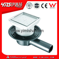 Euro Siphon Tile Insert Floor Drain with Long Side Outlet