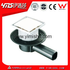 Euro Siphon Floor Drain with Long Side Outlet