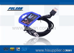 1.4 version angle hdmi cable support 3D Ethernet 1080p