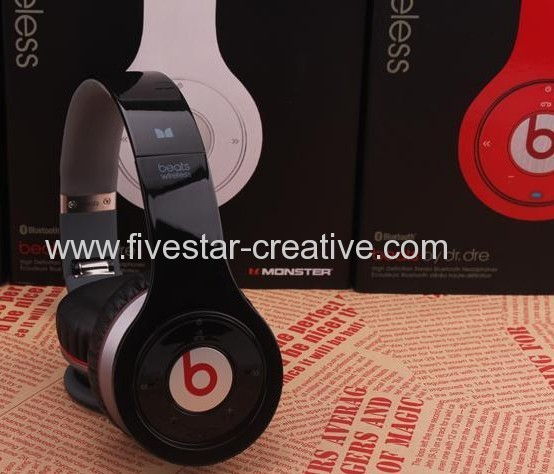 Monster Beats Wireless Bluetooth On Ear Headphones in Red