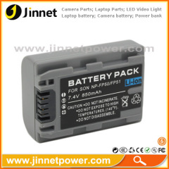 850mAh for Sony NP-FP50 compatible battery