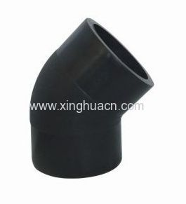 HDPE plastic fittings PE 45 degree elbow