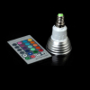 7 color dimmable changing remote control LED RGB Spotlight LM-SL-3SD-YK14 E14 for birthday parties, festive banquets