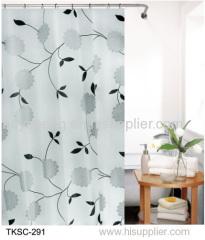 EVA printed shower curtain