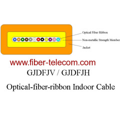 Optical fiber ribbon cable for indoor application