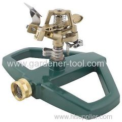 Garden Hose Impulse Sprinkler With Steady metal base