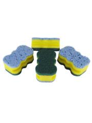 Newly 3-layer Sponge Scrubber, Tiny Sponge Scourer