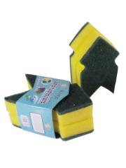 2 Pack Sponge Scrubbers, Arrow-shaped Cleaning Sponge