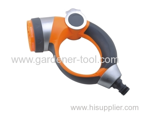 zinc 7-function garden water nozzle with thumb valve