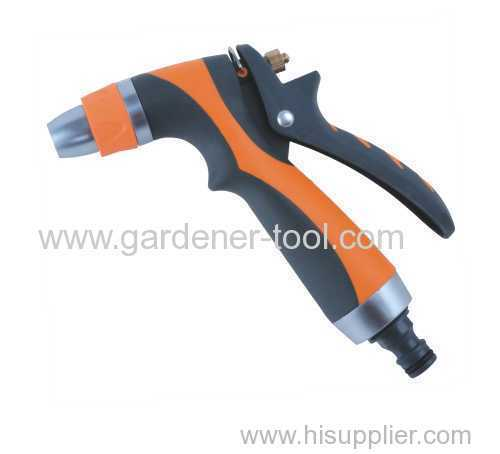 Metal trigger water nozzle with double color grip