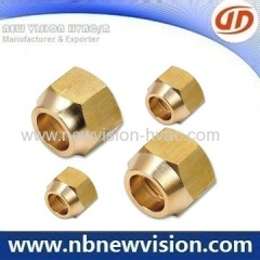 Turning Brass Flare Fitting - Unions & Nuts for HVAC/R