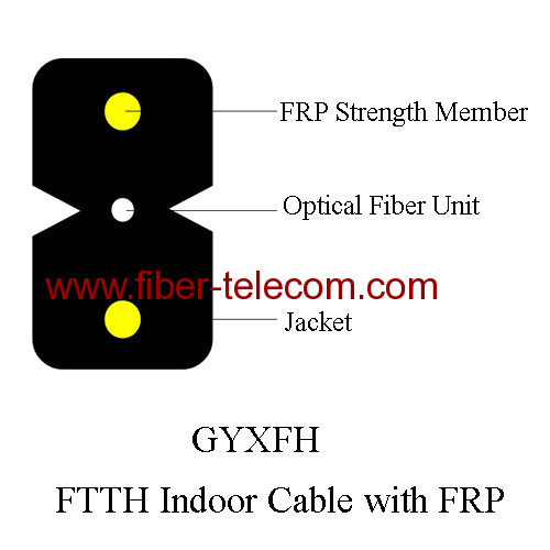 FTTH Indoor Cable with 0.5mm FRP Strength member