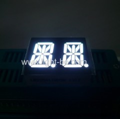 white alphanumeric display; white 14 segment; white 14 segment led display