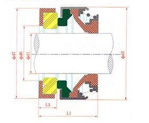water pump mechanical seal 301 35mm CAR / CER