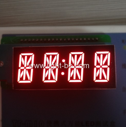 0.54 inches 4-digit 14-segment alphanumeric LED Displays with package dimensions 48 x 20 x 15.5 mm