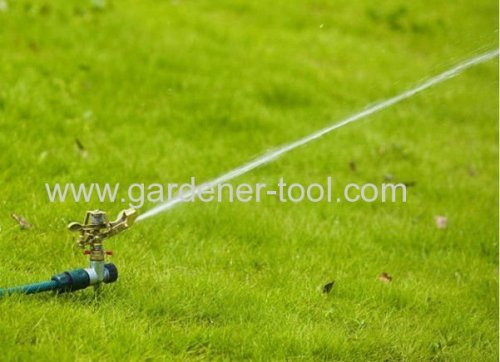 Metal Impulse Water Sprinkler With Zinc Spike