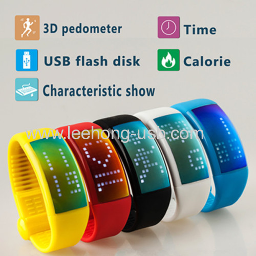 Christmas promotional gift pedometer usb watch