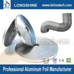 Semi-rigid corrugated aluminum flexible duct for HVAC Systems