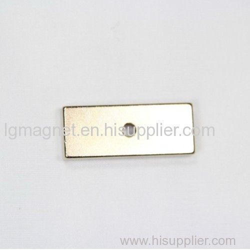 Sintered block Ndfeb magnet with little hole