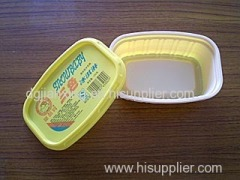 cheese container or double blister container for cheese