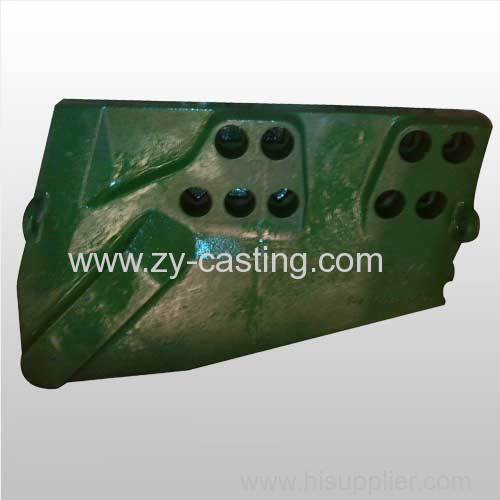 very large side plate green color machinery engineering casting