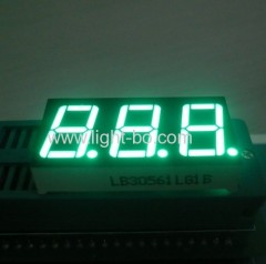 Pure Green gemeenschappelijke kathode 0,56 inch triple digit 7 segment led display